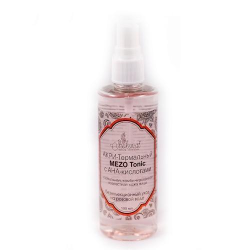 АКРИ-Термальный MEZO Tonic с АНА-кислотами. Нормальная, комбинированная возрастная кожа лица. Безинъекционный уход на розовой воде.